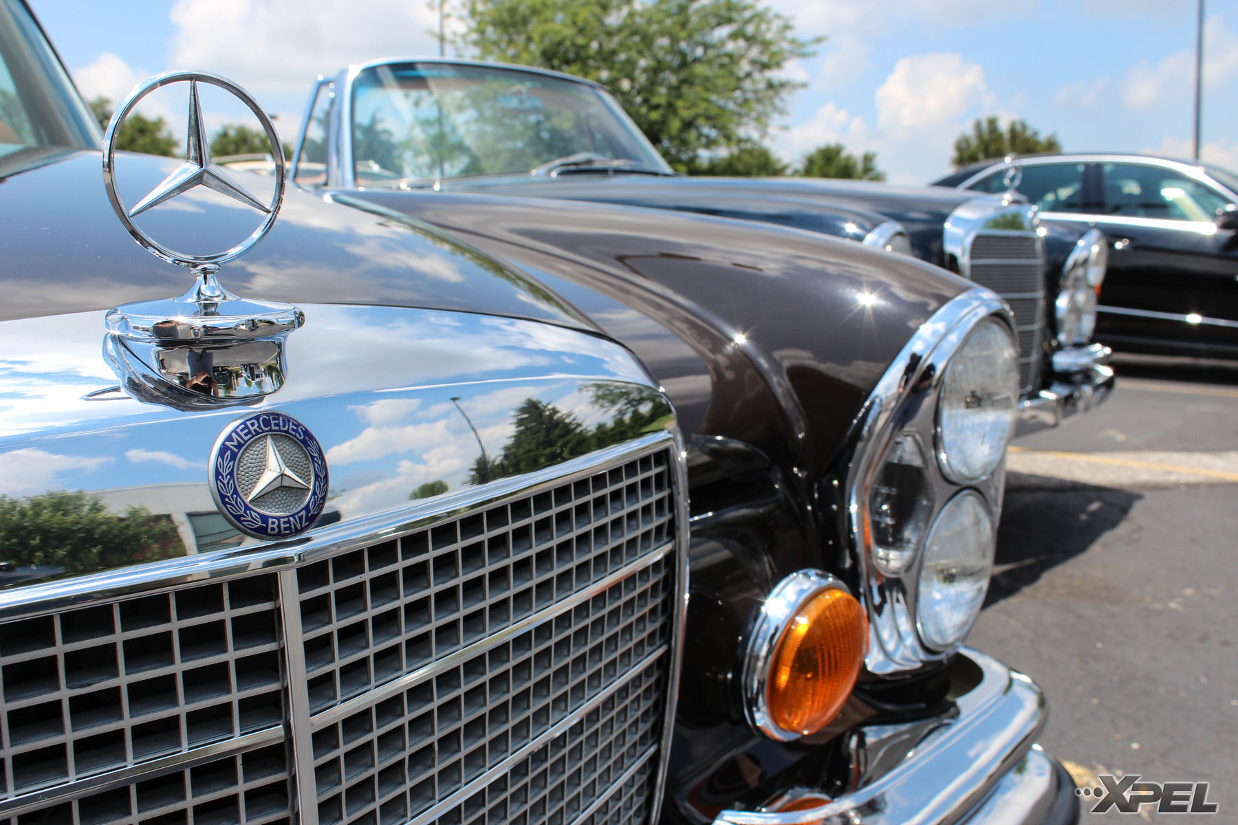 Mercedes-Benz  | Close up shot of 2 great classics