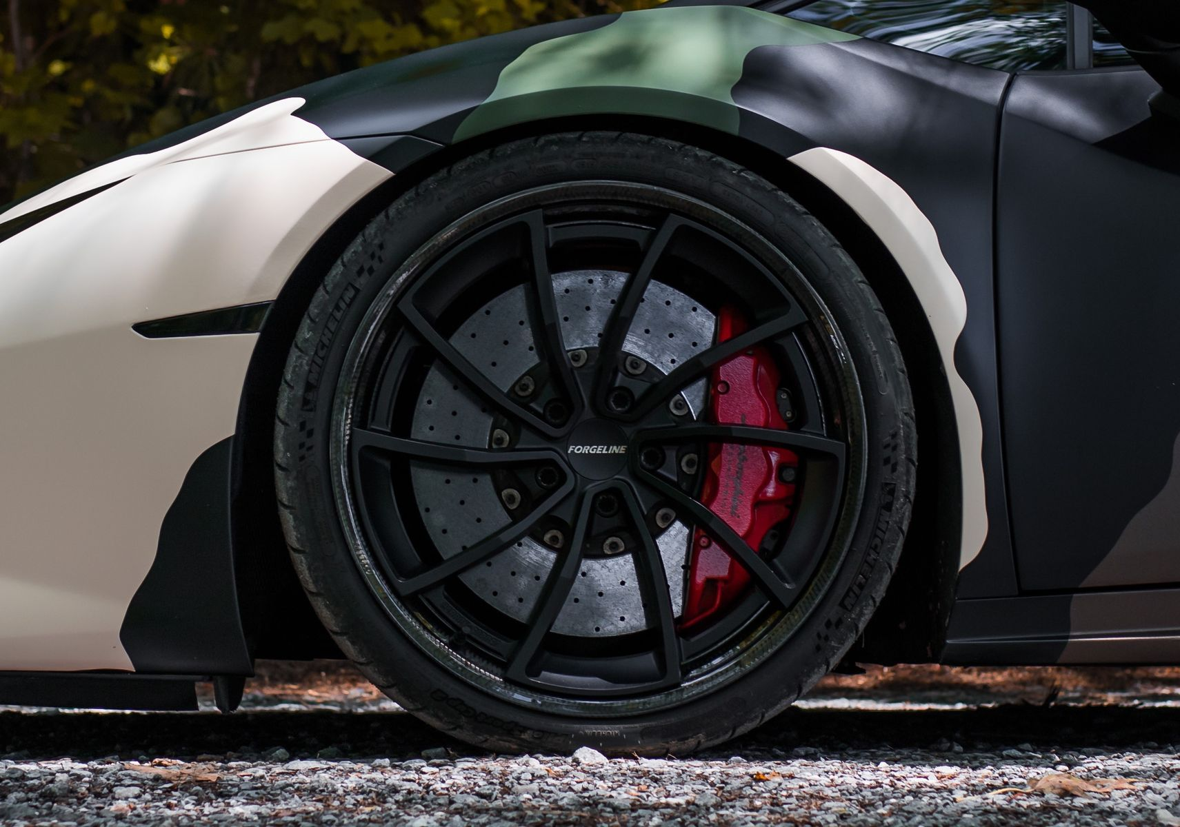 2016 Lamborghini Huracan | Atlanta Custom Wraps' Camo-Wrapped Lamborghini Huracan on Forgeline Carbon+Forged CF202 Wheels