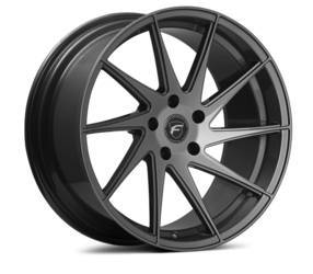 "Forgestar F10D Directional (19"" x 9.5"" front, 19""x11"" rear) Wheels in matte black"
