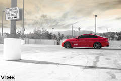 """2014 BMW 435i on 20"""" Rohana RC7 wheels and lowered on H&R Springs - Side Profile Shot From Afar"""