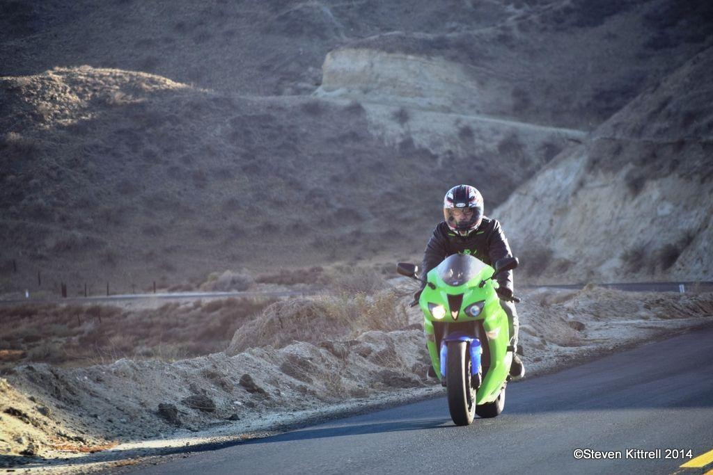 | Biker on the trail