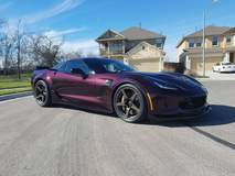 Chris Neal's C7 Corvette Z06 on Forgeline One Piece Forged Monoblock CF1 Open Lug Wheels