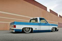 Roadster Shop's 1976 Chevy C10 SPEC Squarebody on RS-Designed Forgeline Wheels