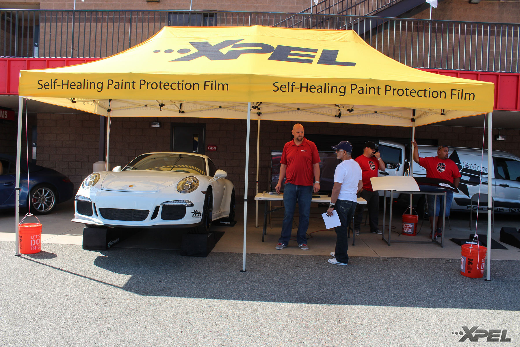 Porsche  | XPEL booth at the California Festival of Speed with Clear Pro LLC