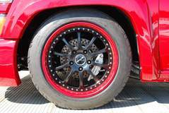"""Colorado Speed"" Drift Truck on Forgeline ZX3P Wheels - Close Up Wheel Shot"