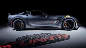 Turn In Concepts' C7 Corvette Grand Sport on Forgeline One Piece Forged Monoblock GA1R Open Lug Wheels
