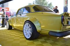 """Flat 12 Gallery's """"V06"""" 1963 Volvo 122S on Forgeline One Piece Forged Monoblock GTD1 5-Lug Wheels"""