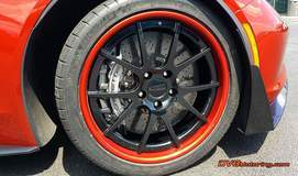 C7 Z06/Z07 on Forgeline GA3C Wheels - Close Up Wheel Shot
