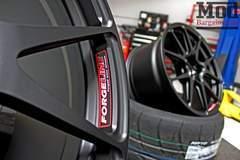 Forgeline One Piece Forged Monoblock GA1R Open Lug Wheel for Corvette C7 Track Application