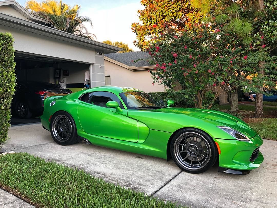 2014 Dodge Viper | Ryan Frankenfield's Stryker Green Dodge Viper GTS on Forgeline Rebel 6-Lug Wheels
