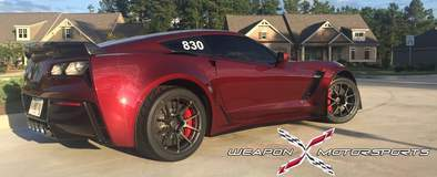 Eric Fleming's C7 Corvette Z06 on Forgeline One Piece Forged Monoblock GA1R Open Lug Cap Edition Wheels