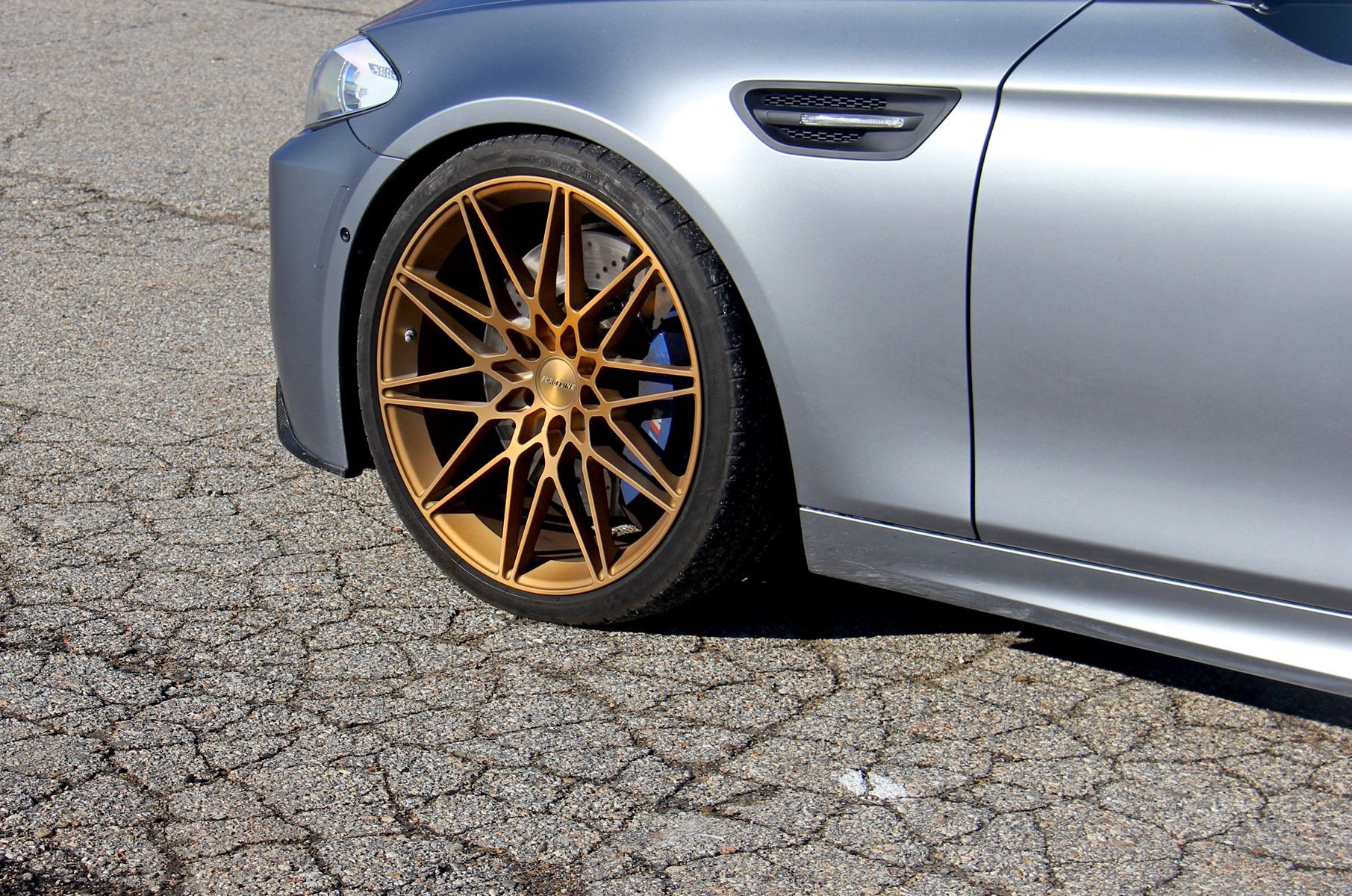 2015 BMW M5 | Turner Motorsport's Frozen Gray BMW F10 M5 on Forgeline One Piece Forged Monoblock MT1 Wheels