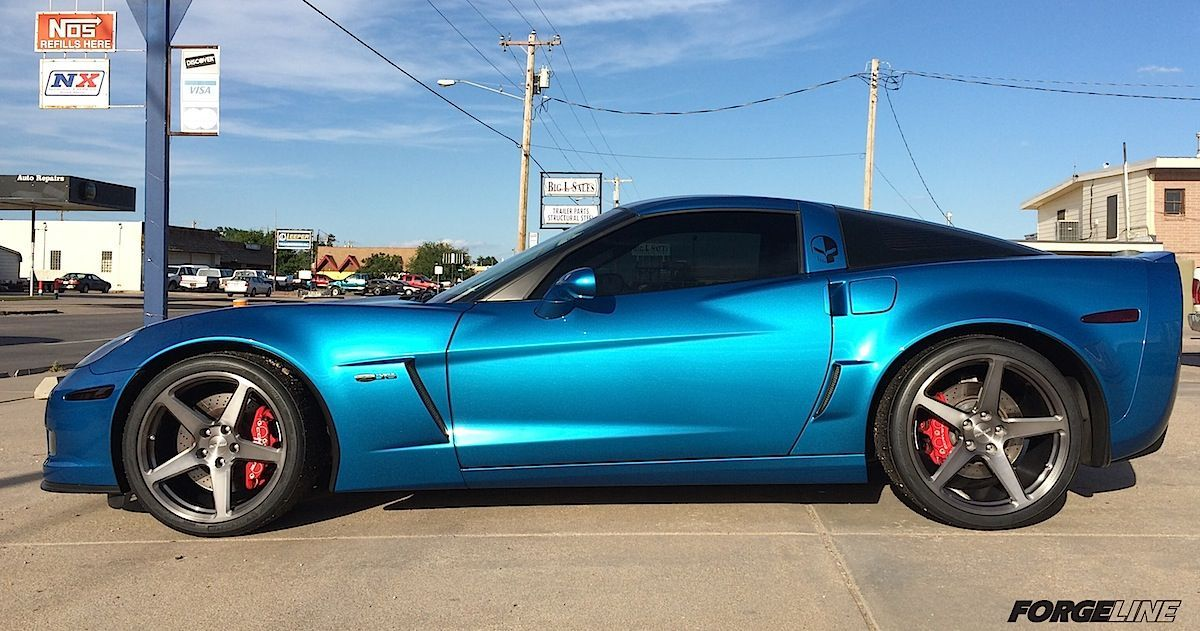 2010 Chevrolet Corvette | C6 Corvette Z06 on Forgeline One Piece Forged Monoblock CF1 Wheels