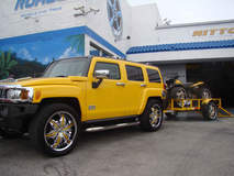 Hummer H2 with Quad