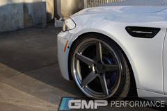 Alan's BMW F10 M5 on Forgeline CF3C-SL Concave Stepped Lip Wheels