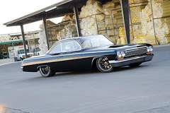 "James and Sandy Eudy's '62 Bel Air ""Bubble Top"" on Forgeline ZX3P Wheels"