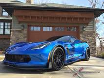 Laguna Blue C7 Corvette Z06 on Forgeline DE3C-SL Wheels