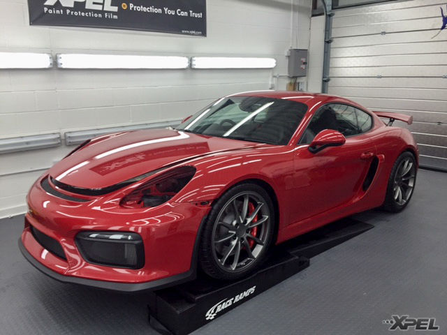 2015 Porsche Cayman   Porsche with XPEL ULTIMATE installed
