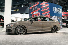 "H&R Special Springs' ""Grauschwarz"" Audi RS3 on Forgeline One Piece Forged Monoblock MT1 Wheels"