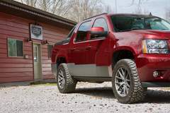 Chase Sailer's Level 7 Motorsports Chevy Avalanche on Forgeline One Piece Forged Monoblock VX1-Truck Wheels