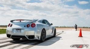 T1 Race Development's Nissan GT-R on Forgeline GA1R Open Lug One Piece Forged Monoblock Wheels