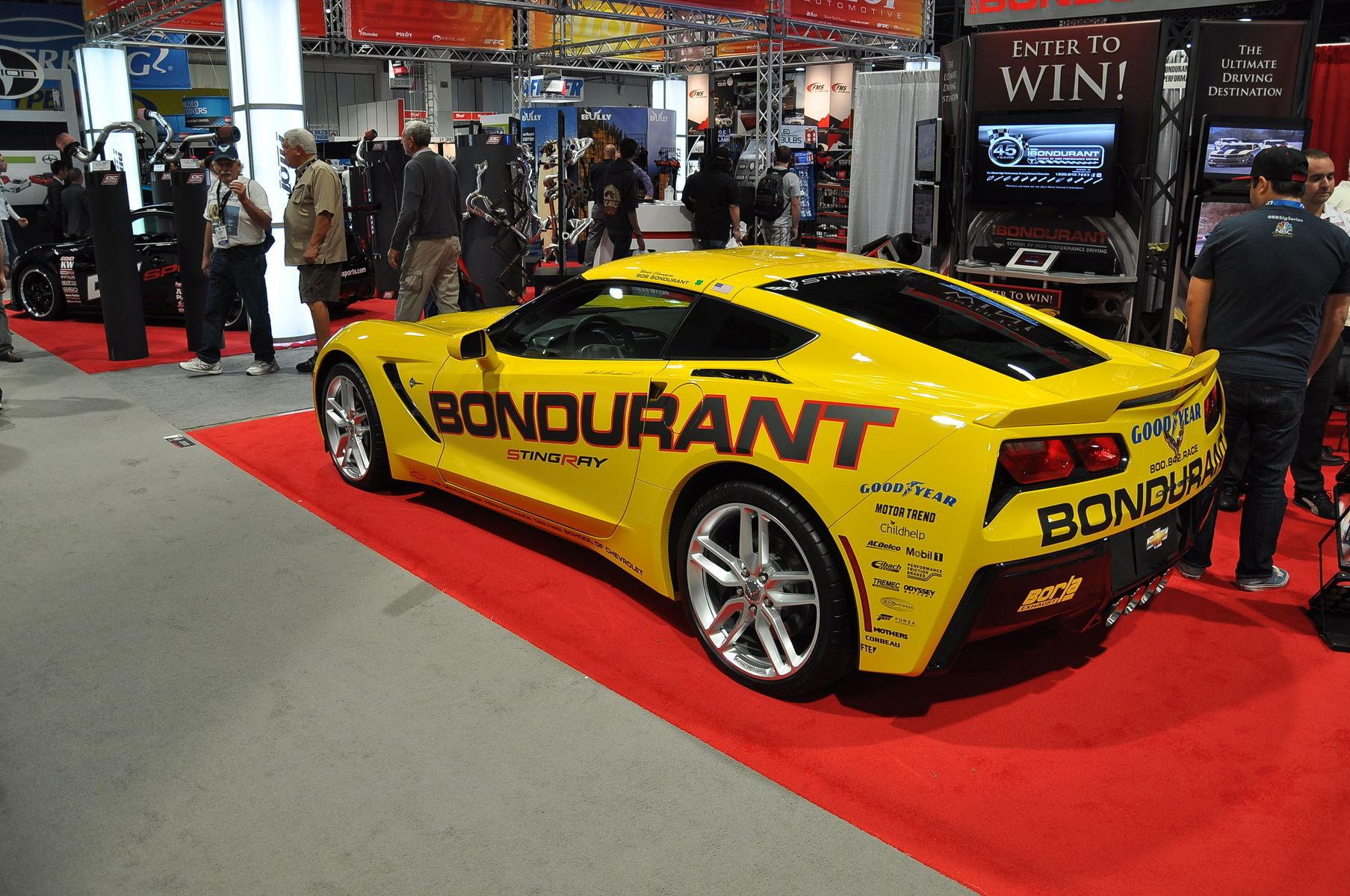 2014 Chevrolet Corvette Stingray | '14 C7 Corvette Stingray in Bondurant booth @ SEMA '13