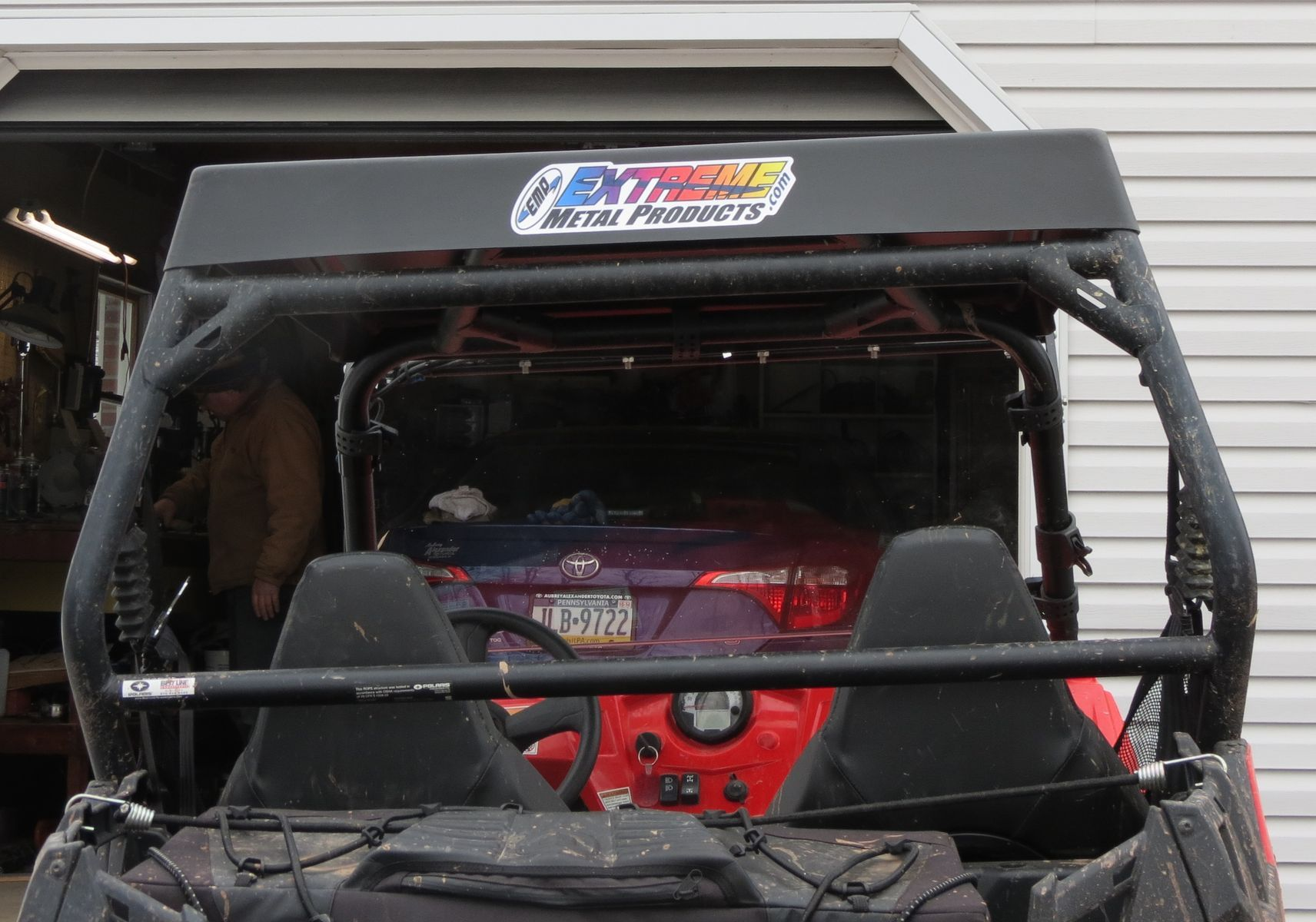 2014 Polaris    Extreme Metal Products Cooter Brown RZR Top