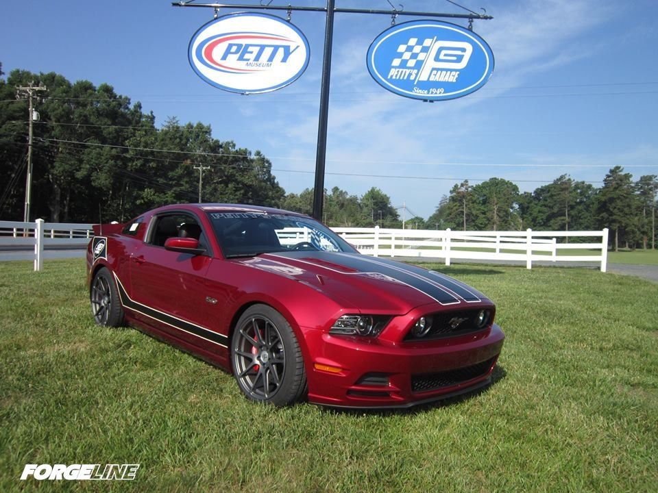 2014 Ford Mustang | Petty Signature Mustang on Forgeline One Piece Forged Monoblock GA1R Wheels