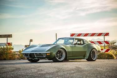 "1970 Chevrolet Corvette Stingray | Garrett Randall's ""Rambo"" 1970 Corvette Stingray on Forgeline GA3R Wheels"
