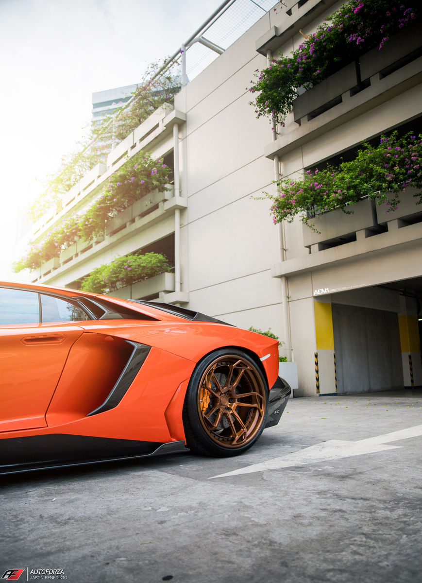 Lamborghini Aventador | Aracio Argos Orange Lamborghini Aventador LP700-4 - ADV.1 ADV5.3 Track Spec CS Series Wheels