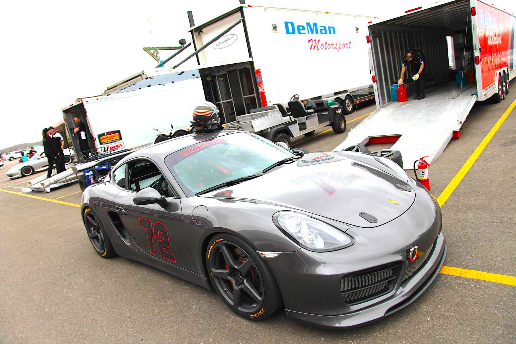 2015 Porsche Cayman S   Track-prepped Porsche Cayman S by DeMan Motorsport on Forgeline CF1R Open Lug Wheels
