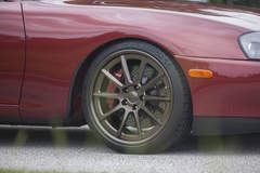 Titan Motorsports Ruby Red MKIV Toyota Supra on Forgeline RB3C Concave Wheels
