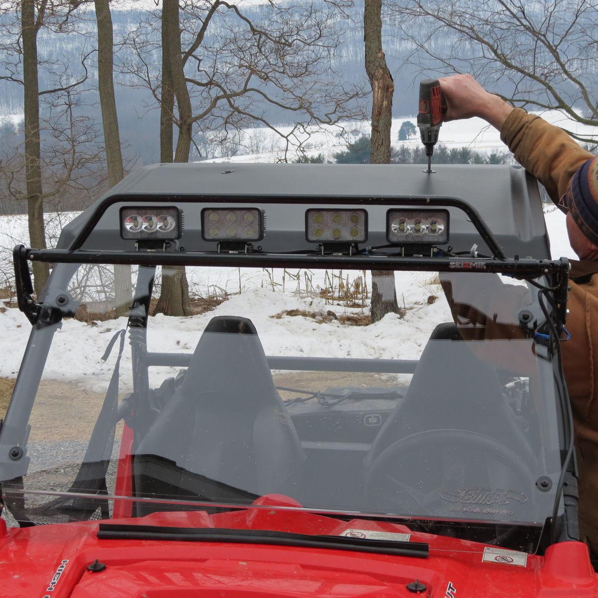 2014 Polaris  | EMP Cooter Brown Hard Coat Windshield