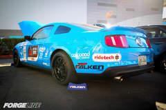 Saroja Raman's Grabber Blue S197 Mustang GT on Forgeline GA3 Wheels - Rear Drive Side Shot