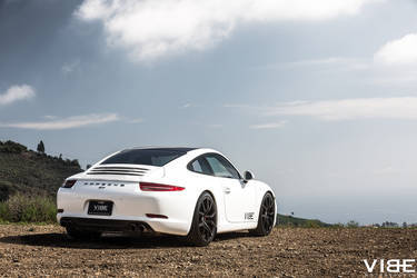 "2014 Porsche 911 | Porsche 911 Carrera on 20"" XO Verona Matte Black - Rear Shot"