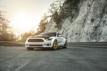 "2015 Ford Mustang | Widebody Mustang EcoBoost on 20"" Rohana Gold RFX5 Wheels - Canyon Carving"