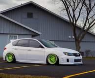 Corey West's Slammed Subaru WRX on Forgeline GX3 Wheels
