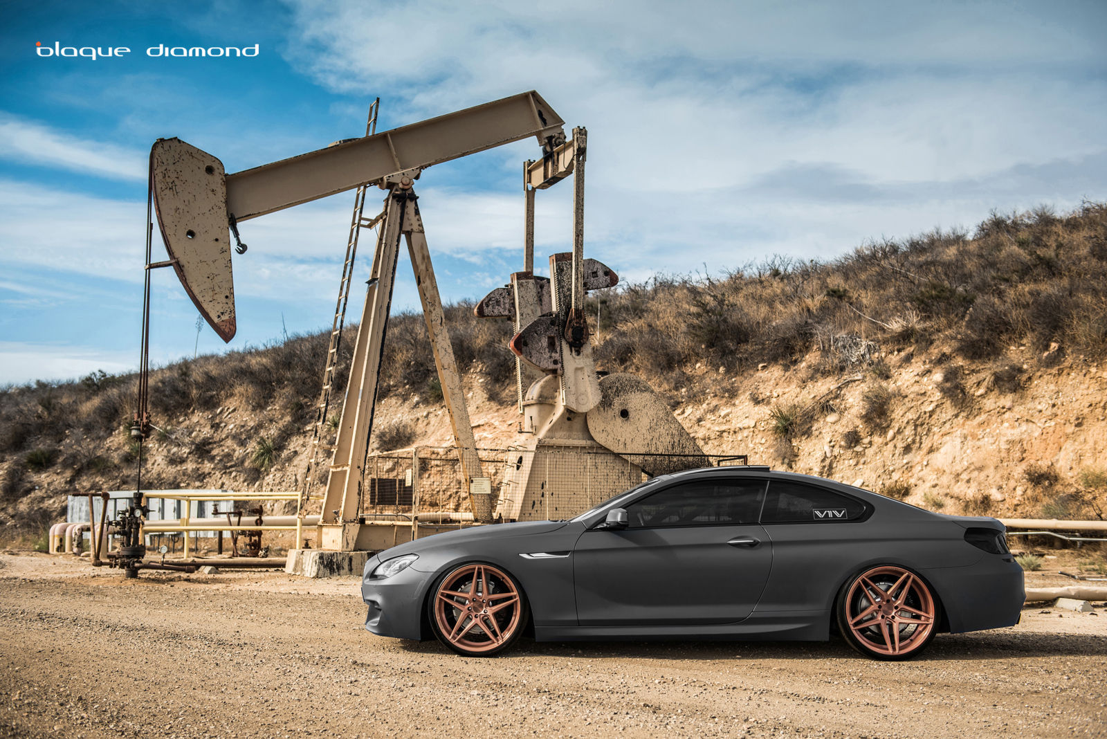 2015 BMW 6 Series Gran Coupe   2015 BMW 640i Fitted With 20 Inch BD-8's in Rose Gold