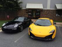 Which would you drive? The Porsche or the McLaren