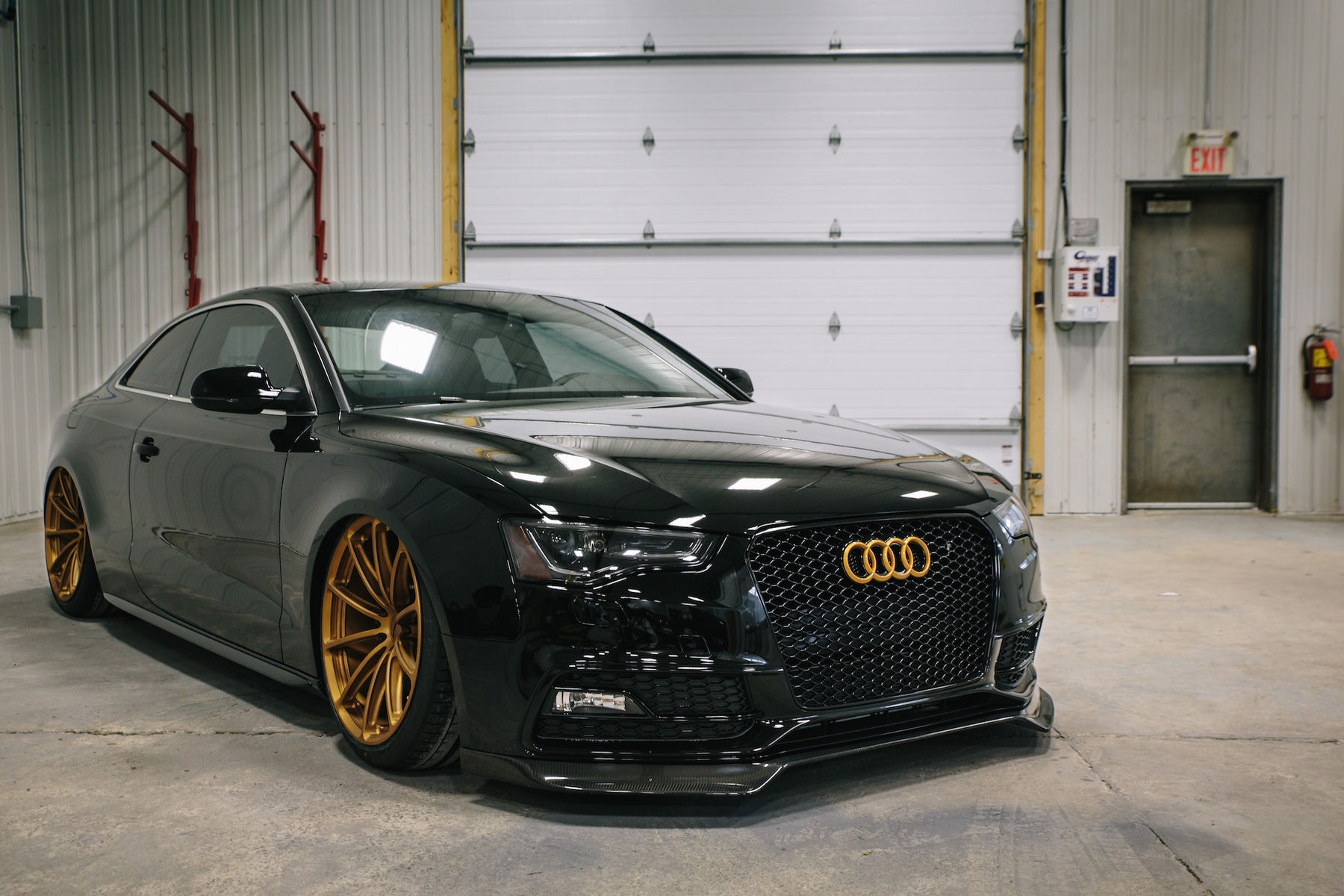 2016 Audi S5   Prostate Cancer Canada's Bagged Audi S5 Coupe on Forgeline One Piece Forged Monoblock GT1 5-Lug Wheels