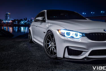 "2016 BMW M3 | '16 BMW M3 on 20"" Avant Garde's - Headlight Shot"