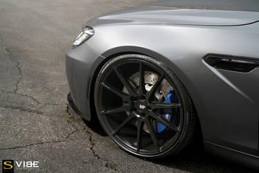 "2015 BMW M6 Gran Coupe | '15 BMW M6 on 22"" Savini BM12's - Brake Caliper Shot"