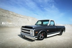 Roadster Shop's Craftsman Chevy C-10 Truck on Forgeline CF3C Concave Wheels