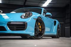 Autowerks-Prepped Porsche 991 Turbo on Forgeline One Piece Forged Monoblock GE1 Wheels