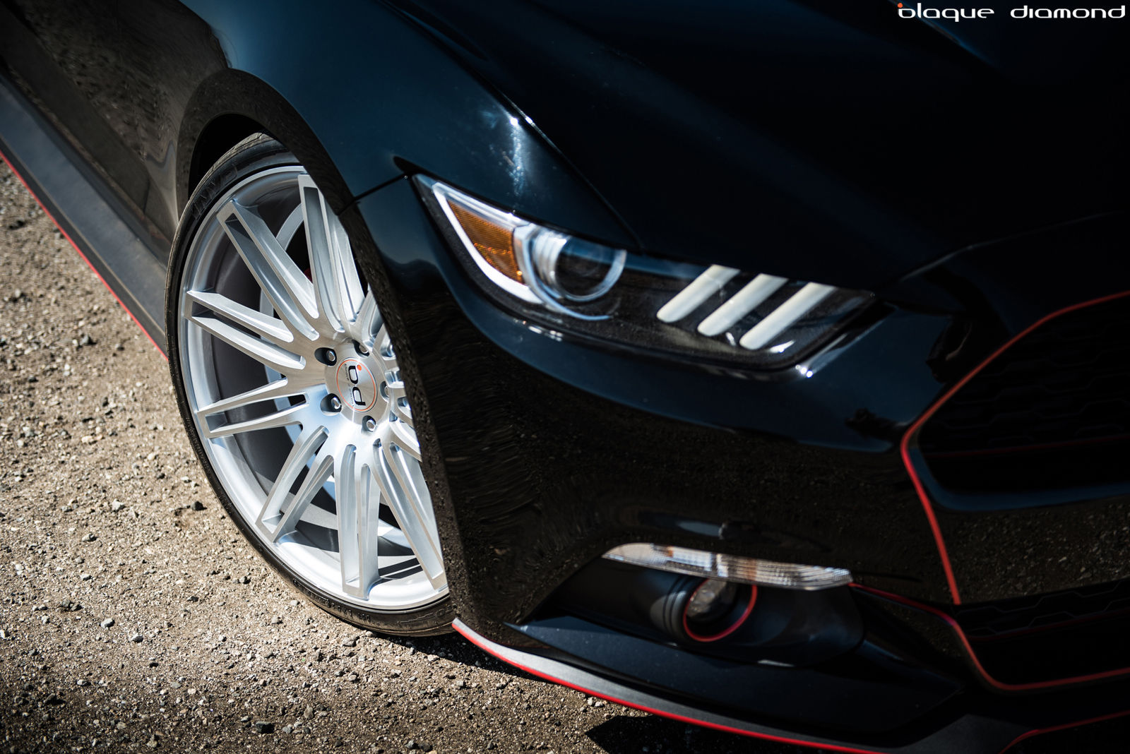 2015 Ford Mustang | 2015 Ford Mustang Fitted With 22 Inch BD-2's in Silver With Polished Face
