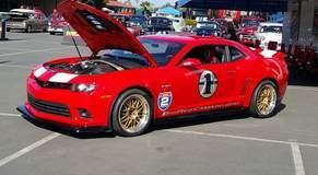 Big Red Edition Camaro Z/28 on Forgeline GX3R Wheels at Goodguys Del Mar