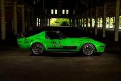 """Bob Bertelsen's """"Green Mamba"""" '68 Corvette on Forgeline CV3C Concave Wheels"""
