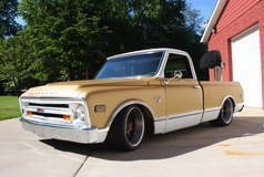 Mark Turner's LS7-Powered 1968 Chevy C10 Truck on Forgeline DE3C Concave Wheels