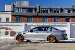 Turner Motorsport's Frozen Gray BMW F10 M5 on Forgeline One Piece Forged Monoblock MT1 Wheels