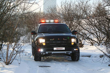 Ford Raptor with Rigid Industries Lights